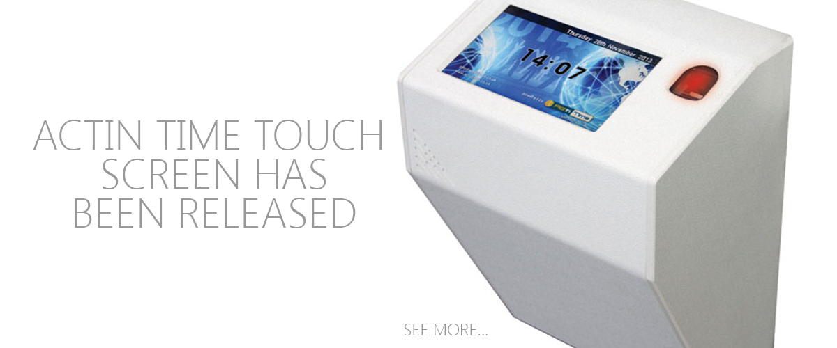 New ActIn Time Touch Screen Terminal