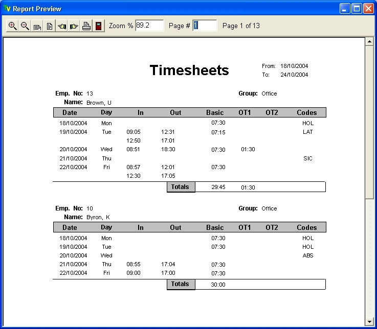 time keeping attendance software